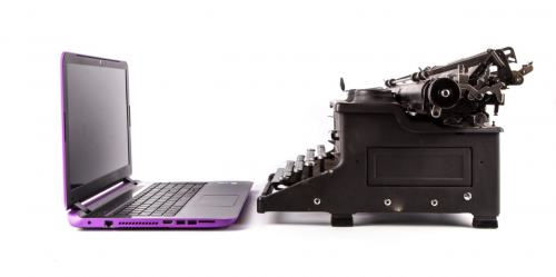Laptop vs Typewriter