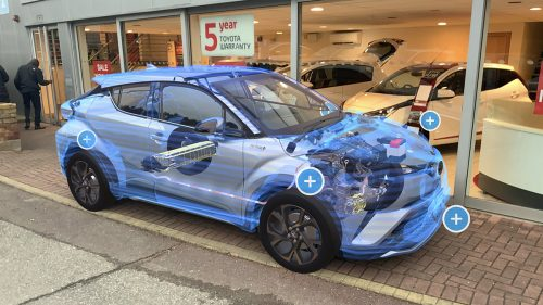 Augmented reality on a car